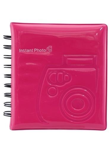 Fujifilm instax mini Film Uyumlu Pembe 64'lü Kare Albüm Renkli